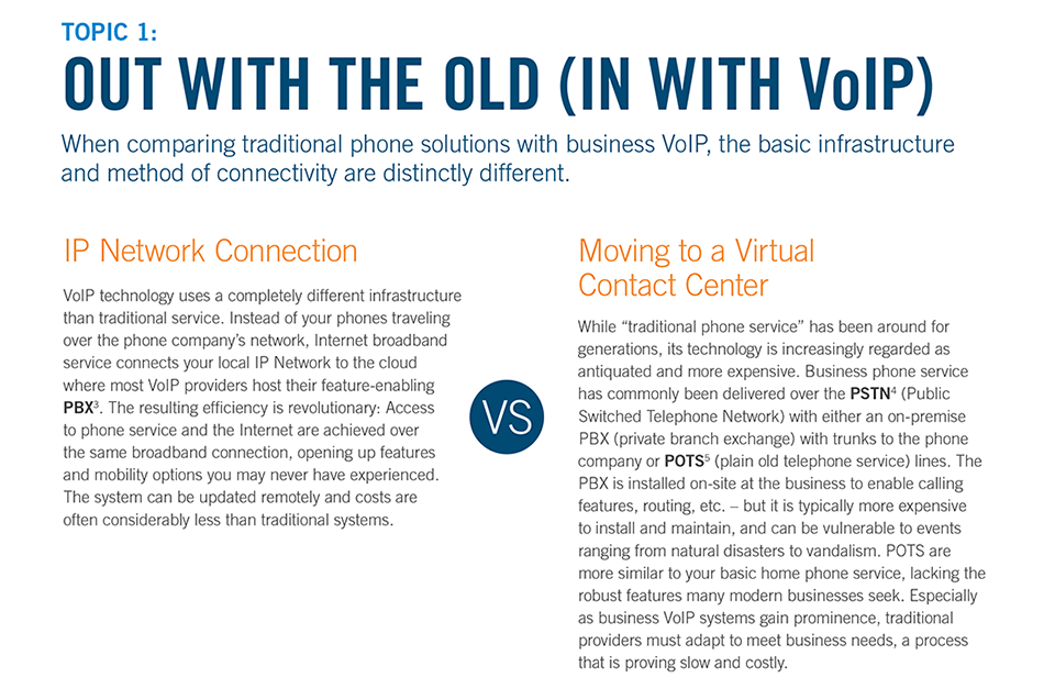Out With the Old In with VoIP
